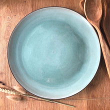 Load image into Gallery viewer, Simone Potter Ceramics Green Serving Platters - Dark Clay (choice of glaze)