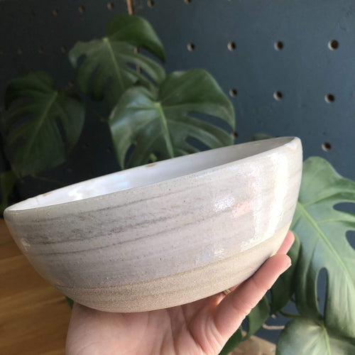Simone Potter Ceramics Spalted Wood - White Glaze Pasta Bowls