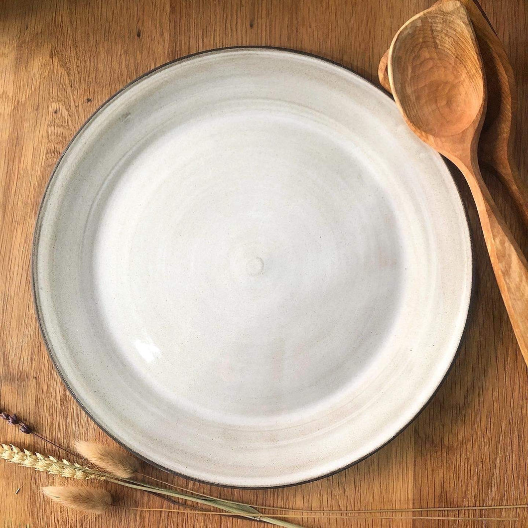Simone Potter Ceramics White Serving Platters - Dark Clay (choice of glaze)