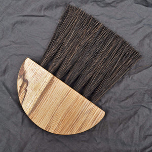 Slow Made Goods Brush Spalted Ash Table Brush with Gumati fibre (large)