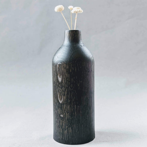 Something From The Turnery Vase Bud Vase In Ebonized Oak