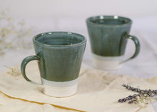 Load image into Gallery viewer, Sophie Delarny Ceramics Mugs - Sea Green & White