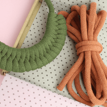 Load image into Gallery viewer, Stitching Me Softly Necklace Kit Make Your Own: Chunky Woven Cotton Necklace Kits