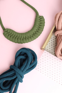 Stitching Me Softly Necklace Kit Make Your Own: Chunky Woven Cotton Necklace Kits