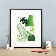 Load image into Gallery viewer, Studio Fae Prints Leaf Mono 1 Giclée prints from original collages (various designs)