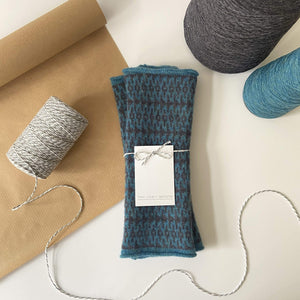 That Lovely Weekend Mittens Barracuda & Metallic Fingerless Mittens - 100% Lambs Wool