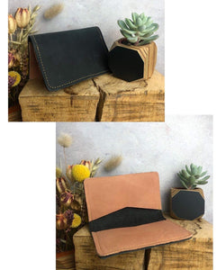 Zoe Dunn Designs Purse / Wallet Black / Blush Card wallet/holder - soft leather