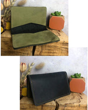 Load image into Gallery viewer, Zoe Dunn Designs Purse / Wallet Black / Olive Card wallet/holder - soft leather