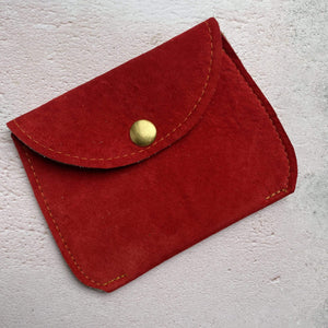 Zoe Dunn Designs Purse / Wallet Bright Red Purse - soft leather