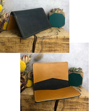 Load image into Gallery viewer, Zoe Dunn Designs Purse / Wallet Dark navy / Honey Card wallet/holder - soft leather