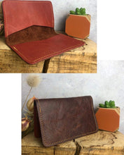 Load image into Gallery viewer, Zoe Dunn Designs Purse / Wallet Heritage Chestnut / Rust red Card wallet/holder - soft leather