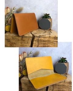 Zoe Dunn Designs Purse / Wallet Honey / Mustard Card wallet/holder - soft leather