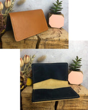 Load image into Gallery viewer, Zoe Dunn Designs Purse / Wallet Honey / Navy Card wallet/holder - soft leather