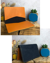 Load image into Gallery viewer, Zoe Dunn Designs Purse / Wallet Navy / Honey Card wallet/holder - soft leather