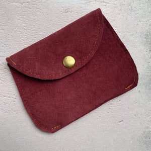 Zoe Dunn Designs Purse / Wallet Red wine Purse - soft leather