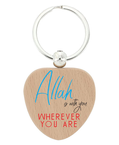 Islamic  Heart keychains Design 1