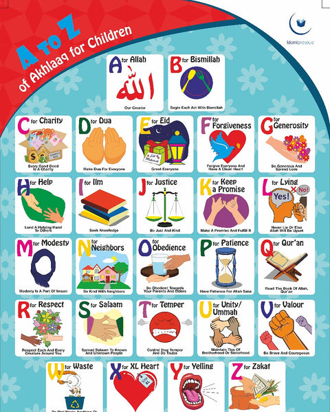 A to Z of Akhlaaq for Children Poster