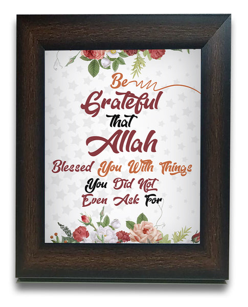 Be grateful to Allah quote