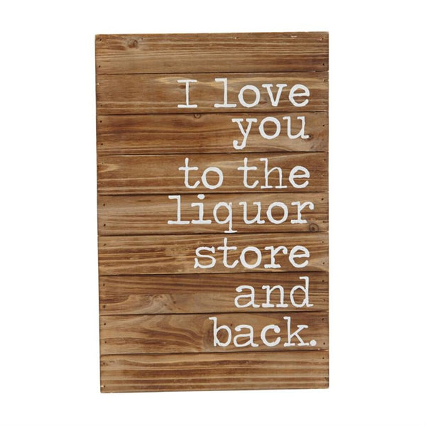 Mud Pie Liquor Store & Back Plaque