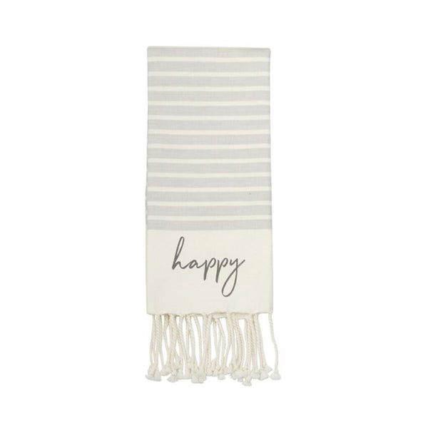 Mud Pie Happy Tassel Hand Towel