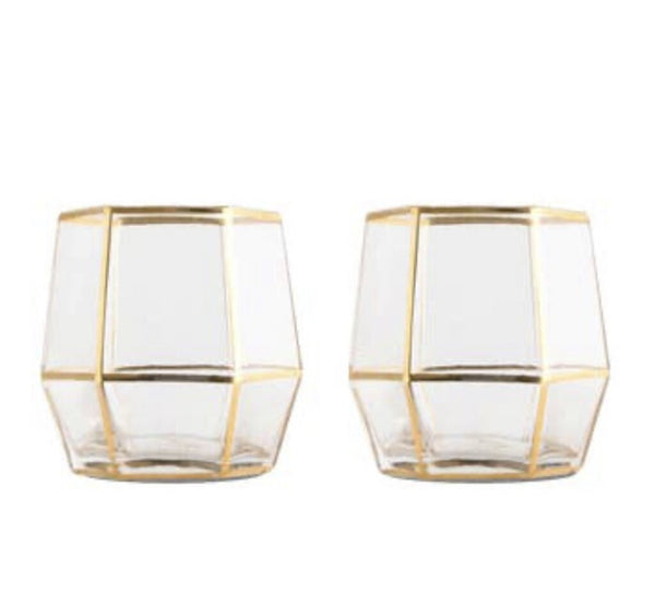 Root7 Geo Glass Gold 2 pc