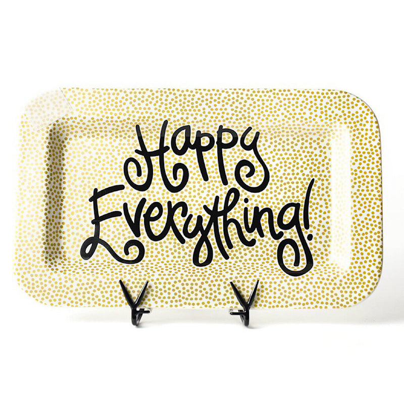 Happy Everything Gold Small Dot Platter