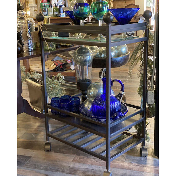 Jan Barboglio Bar & Serving Cart w/Casters