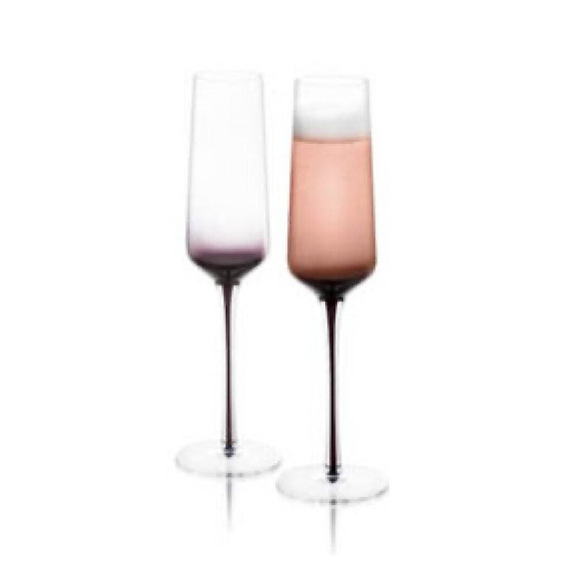 Joy Jolt-Black Swan Champagne Glasses (2pc)