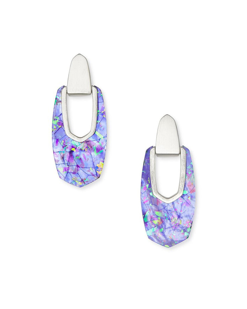 Kendra Scott Kailyn Gold Drop Earrings In Iridescent Lilac Illusion