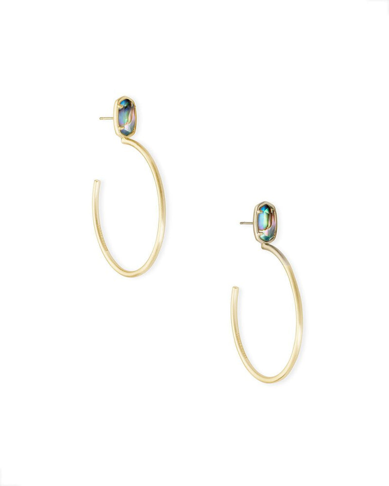 Kendra Scott Small Pepper Gold Hoop Earrings In Nude Alabone