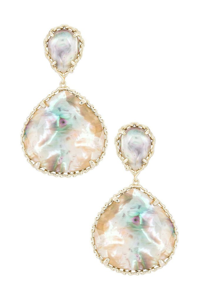 Kendra Scott Gold Kenzie Clip On Earring in Gold Nude Alabone