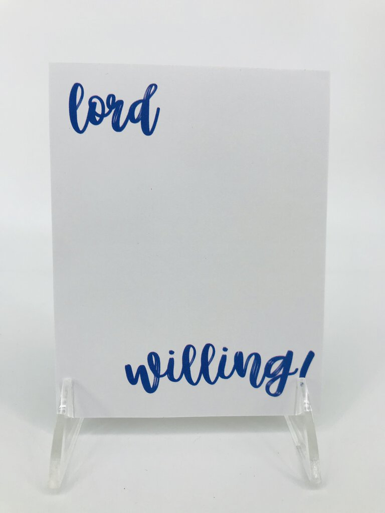 Southern Sass Lord Willing!	Notepad