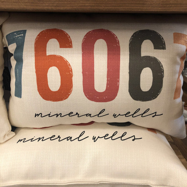 Mineral Wells Vintage Pillow