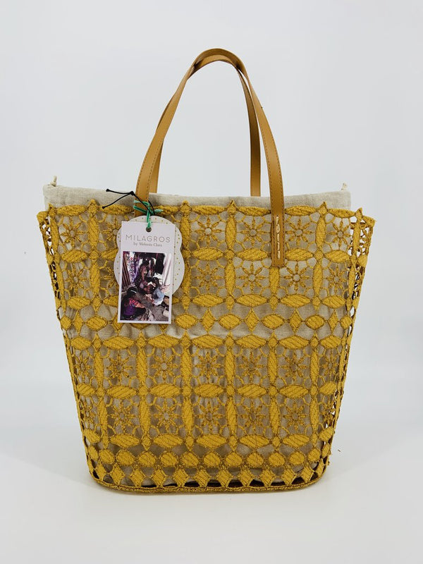 Holbox Lace Tote - Honey