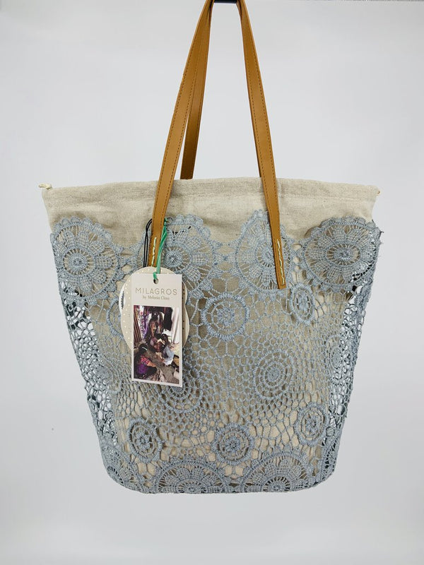 Holbox Lace Tote - Ice Blue