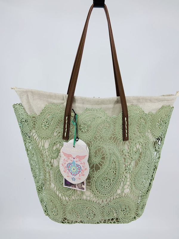 Holbox Lace Tote - Green