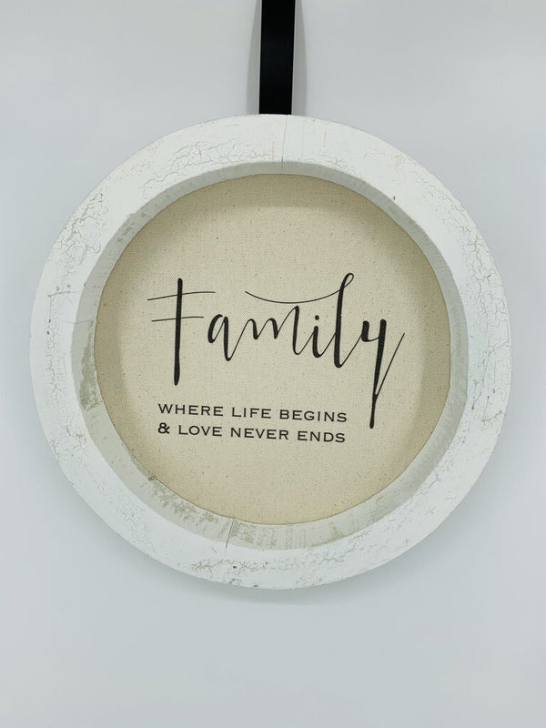 Family - Wall Art - Round Frame