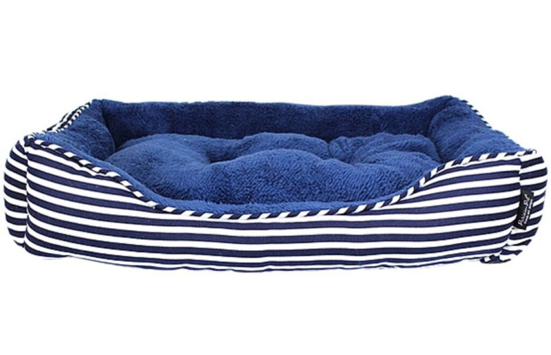 Ahoy Striped Bed - Blue