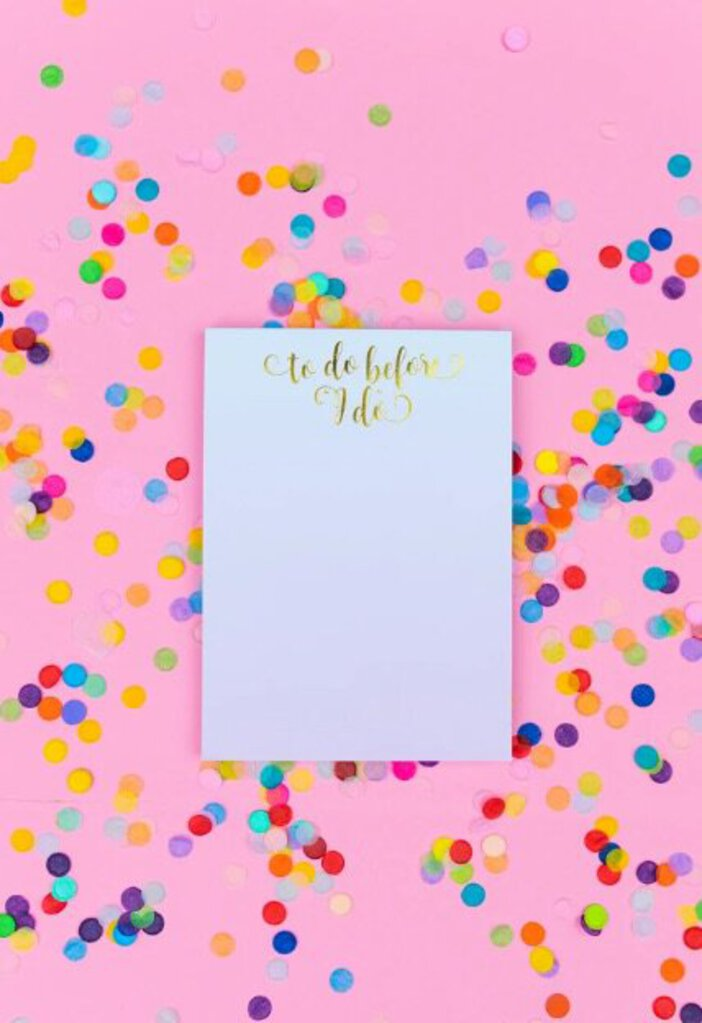 "To Do Before ""I Do"" Notepad with Magnet"