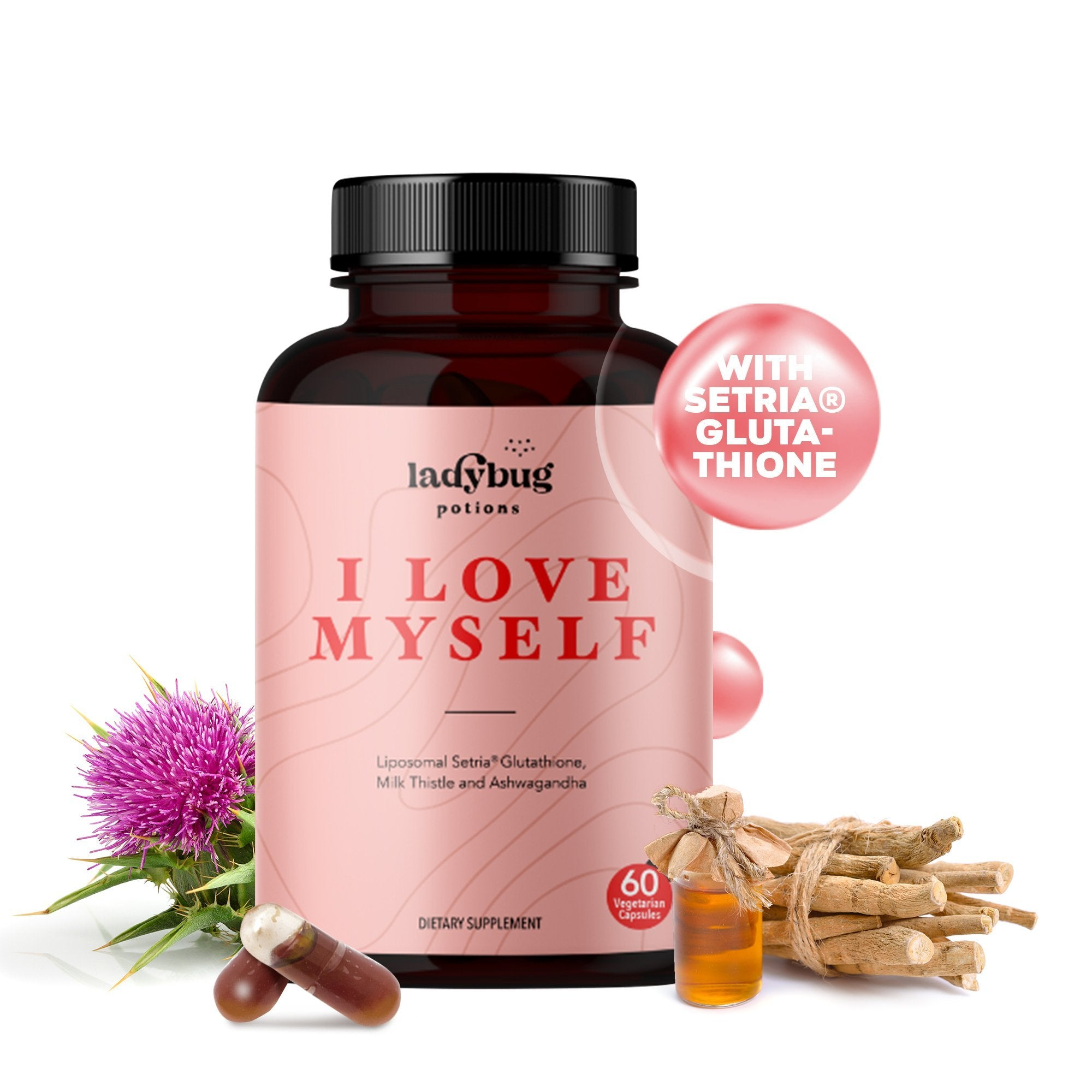 Ladybug Potions® I Love Myself - Glutathione, Ashwagandha, & Milk Thistle
