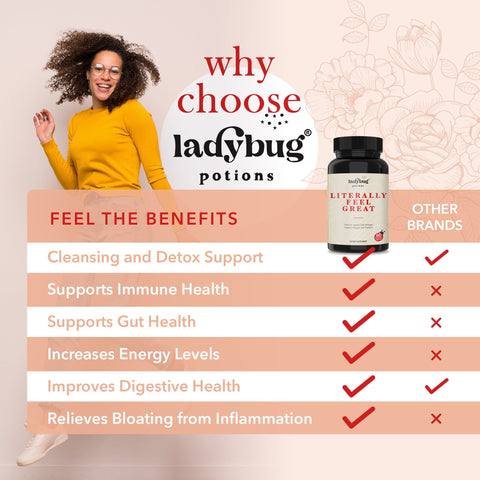 Ladybug Potions® Literally Feel Great - ACV, Turmeric, & Cayenne Pepper