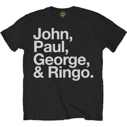 Billede af The Beatles John, Paul, George & Ringo T-shirt