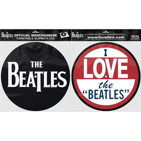 Billede af The Beatles Drop T Logo & Love Turntable Slipmats