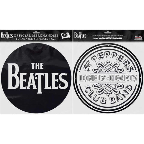 Billede af The Beatles Drop T Logo & Sgt Pepper Drum Turntable Slipmats