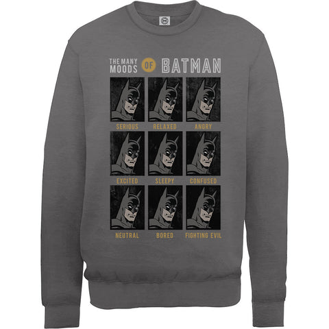 Billede af DC Comics The Many Moods of Batman Sweatshirt