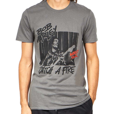 Billede af Bob Marley Catch A Fire World Tour T-shirt model