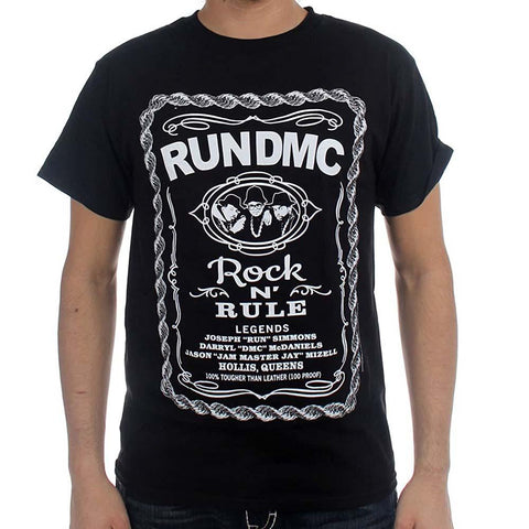 Billede af Run DMC Rock N' Rule Whiskey Label T-shirt