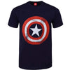 Billede af Marvel Comics Captain America Distressed Shield T-shirt