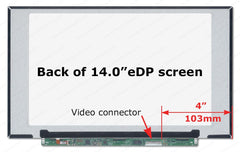 LaptopKing New Replacement LCD Screen for N140HGA-EA1 REV.C1 14.0-inch WideScreen 30 pin