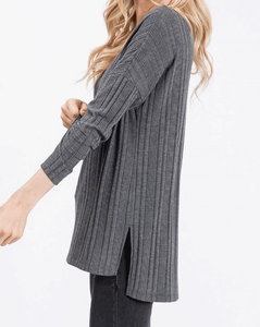 Rebecca Ribbed Tunic - Dear Boutique